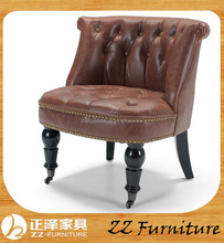 Button Tufted Leather PU One Seater Leisure Chair