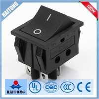 black cover 2way 4pin RS-608 iron rocker switch
