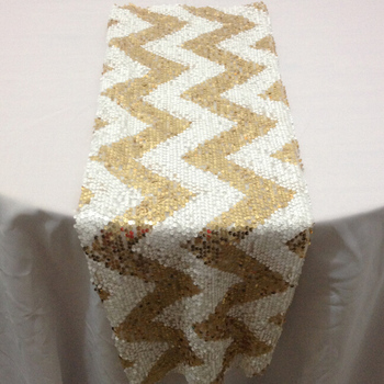 Fancy Sequin Chevron Table Runner Wedding