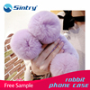Fluffy bag for iphone 6 plus,plush with ball PC fur lighter case fur mobile phone cover smartphone cell mobile phone case cover