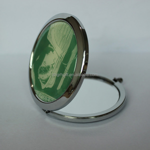Popular fashion lady metal hand held antique mirror