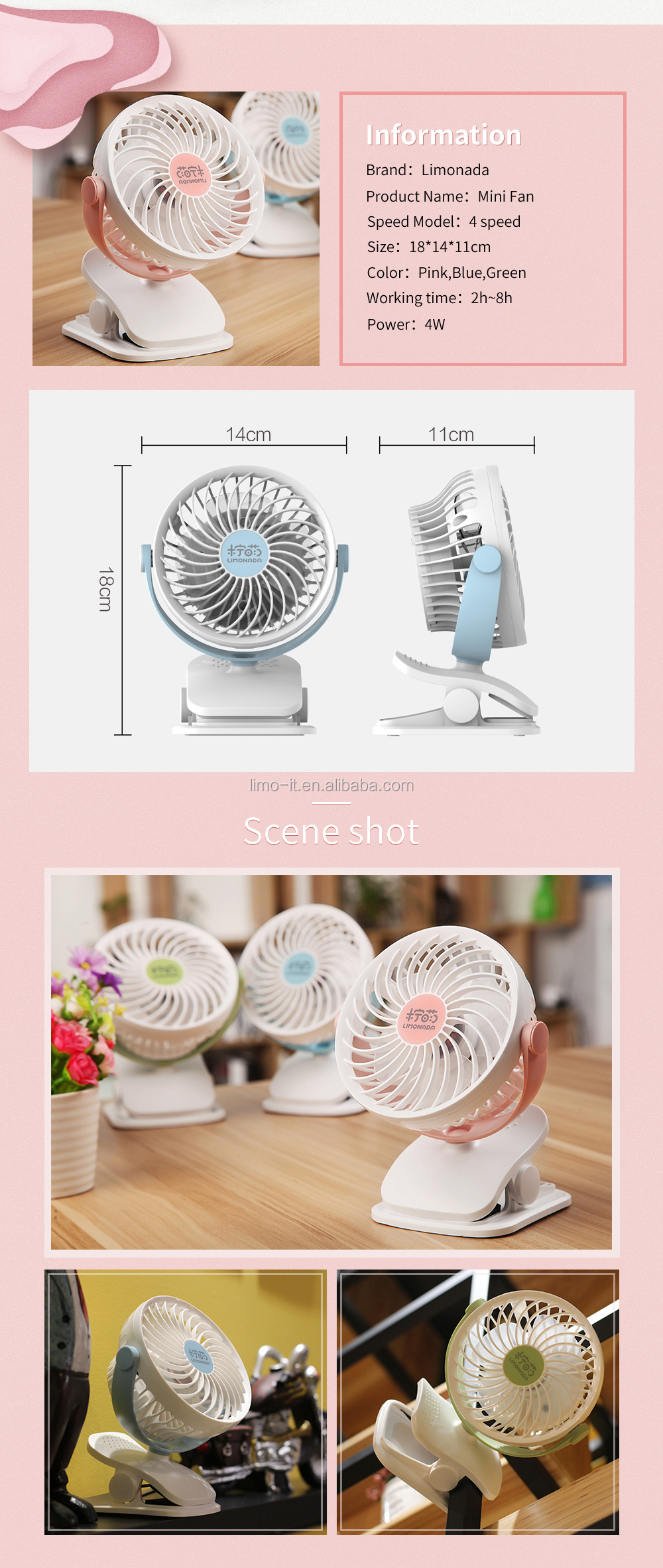 2018 trending products Low noise High speed strong wind mini Folding table fan