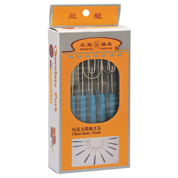 Well Packaged 304 S/S Material Electrolysis Chocolate Fork