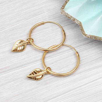 Aliexpress Sterling Silver Jewelry Wholesale Gold Leaf Hanging Hopp Bangle  Earrings - Buy Sterling Silver Bangle Hoop Earring,Gold Hanging