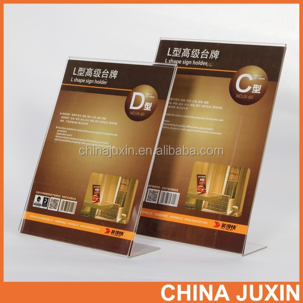 China alibaba gold supplier Customized Clear Acrylic Photo Frame for Picture Photos Display