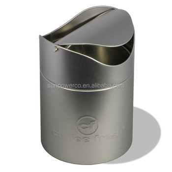 Round Trash Tin Small Can Swing Lid
