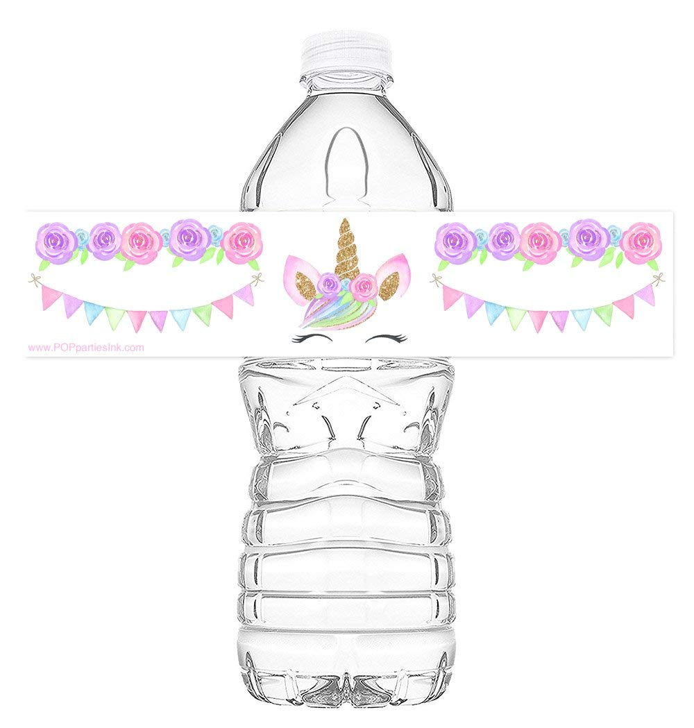 Bowling Party Decorations Bowling Pink Party Bottle Wraps Bowling Water Bottle Labels Made in The USA Set of 20 Waterproof Bottle Stickers