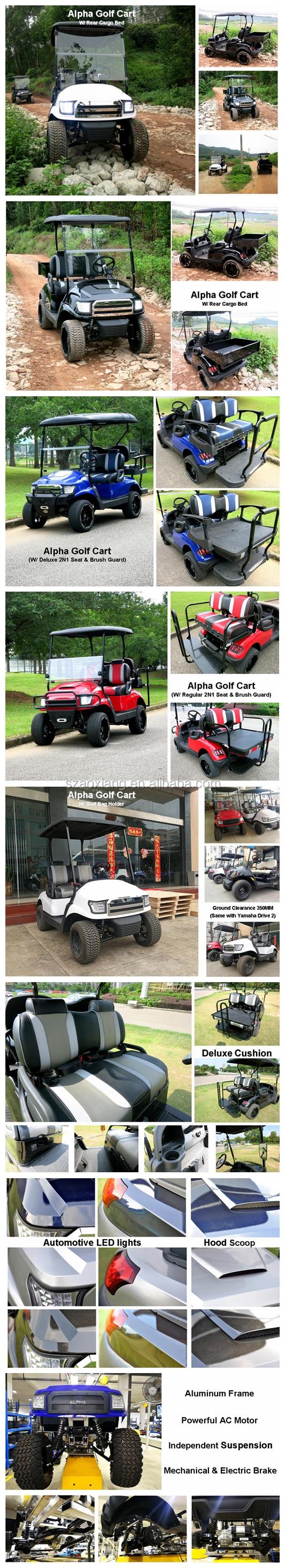 Street Legal Off-Road Elektrische Auto Jacht Golfkar 4 Passenger Goedkope Prijs Voor Verkoop