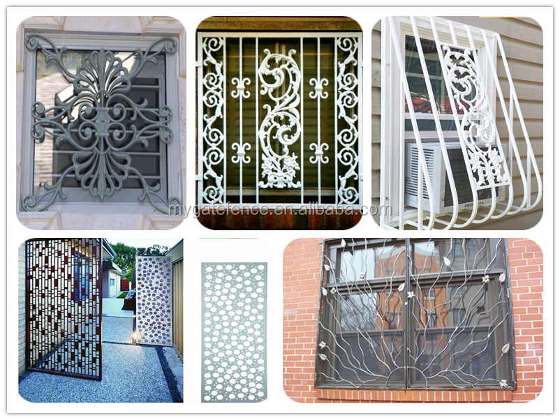 Yishujia supplier modern simple indian style of iron for Window design indian style