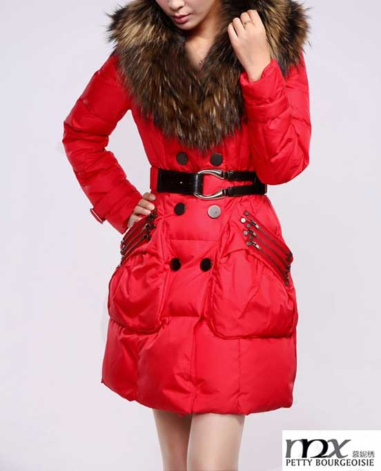 Ladies Long Coat Design For Sexy Girl Latest With Large Fur Collar ...