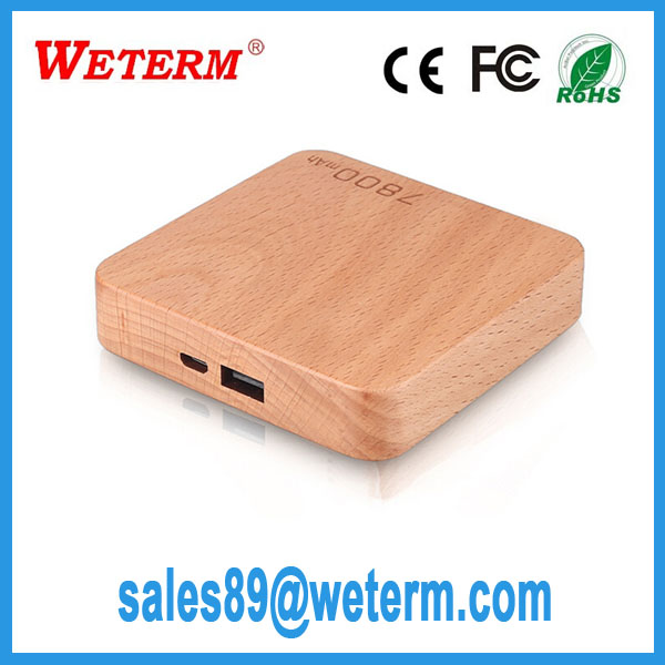 2016 newest promotional oem wooden power bank 8000mah