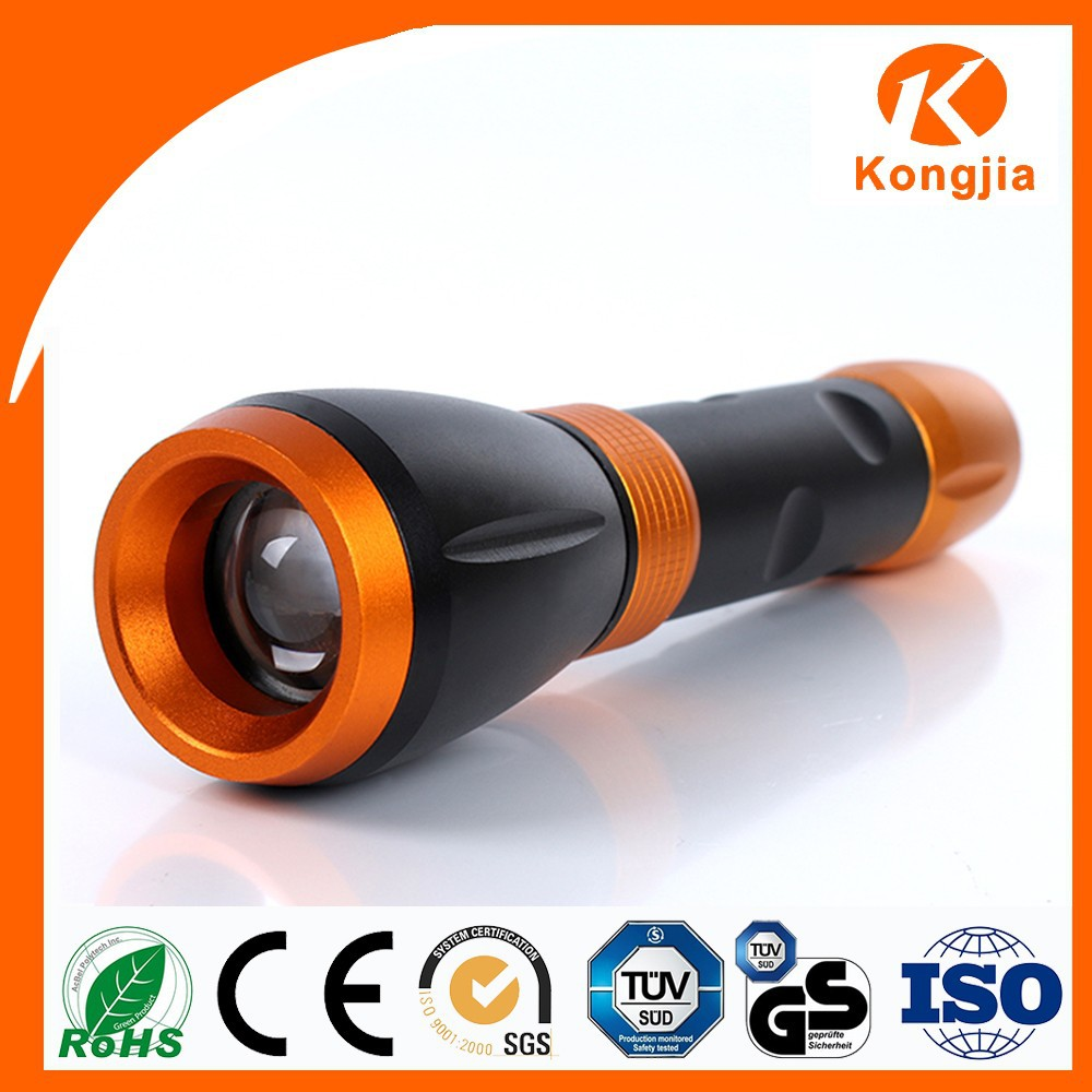 Zoomable Flashlight Emergency Led Grow Light High Power Led Torch Aluminum Alloy Battery Walking FlashLight
