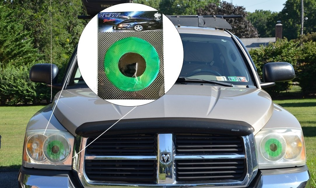Buy Green Car Eyes Headlight Tint Sticker Perfect Pairing With Car