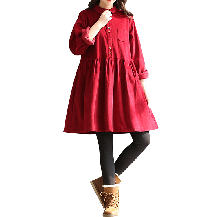 Hexin Clothing comfortable for girl red 2018 new Japan students cotton fabric lolita dress