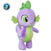 Wholesale Custom LOGO Cute Stuffed Animal Soft Green And Purple Dragon Plush Toy