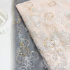 Wholesale flower design sequins beaded embroidery lace fabric for latest modern women dresses