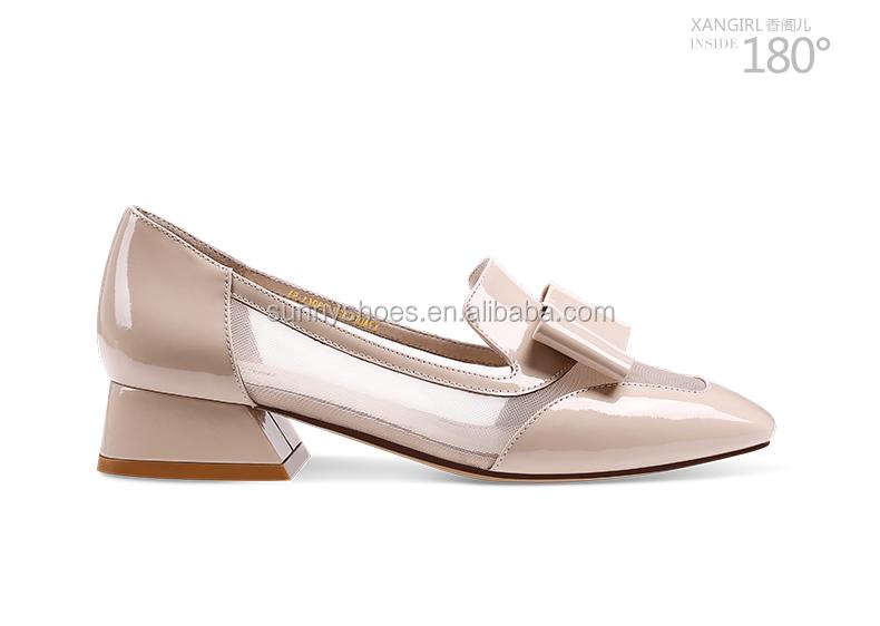 new square ladies girls heel woman 2017 fashion shoe toe pumps chunky PEqIPZx