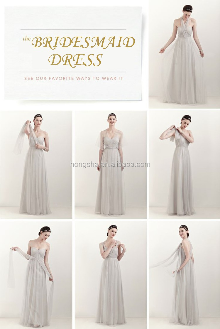Long Bridesmaid Dress Two Color Made To Order Bridesmaid Dresses ...