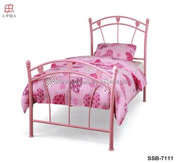 Zuhause Schlafzimmer Mädchen Doppel Metall Bett Mit Rosa Herz Motive ...