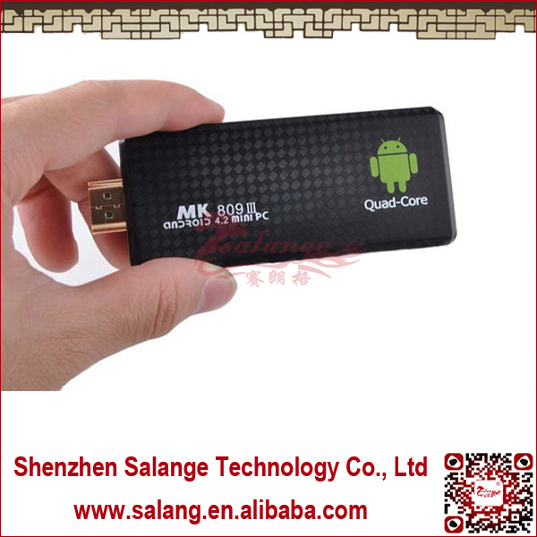 MK809 III Quad core RK3188 Android <strong>Tv</strong> Stick 2GB RAM 8GB ROM Bluetooth Wifi Mini PC <strong>dongle</strong> <strong>tv</strong> Android 4.2.2