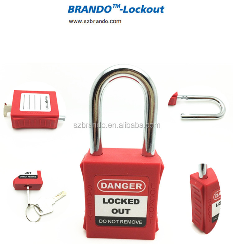 8dfdc038592 Electrical Lockout Tagout Devices insulation Safety Padlock with Masker Key