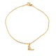 2018 wholesale stainless steel womens foot bracelet designs 18k gold anklet bracelet