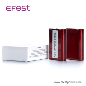 Efest 103450 battery ICP103450CA 3.7v 1800mah lithium cells 103450 li-ion prismatic gps powerful
