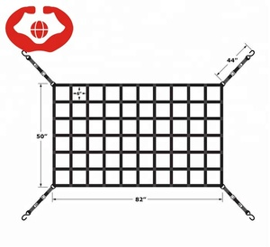 "82"" x 50"" Long Bed Pickup Truck Cargo Net with Cam Buckles & S-Hooks"