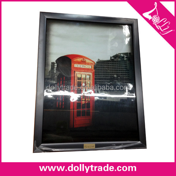 30*40CM London Telephone Booth Cheap Wood Photo Frame