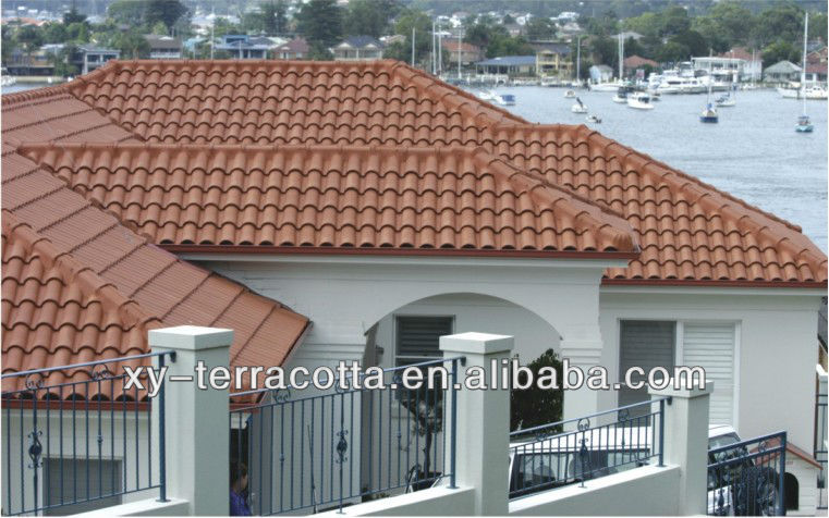 French Clay Roof Tiles Chinese Ceramic
