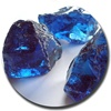 Decorative material color glass rocks