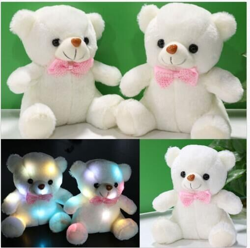 Baby Toy Light Up Teddy Bear Plush Toy Stuffed Plush Led Teddy ...