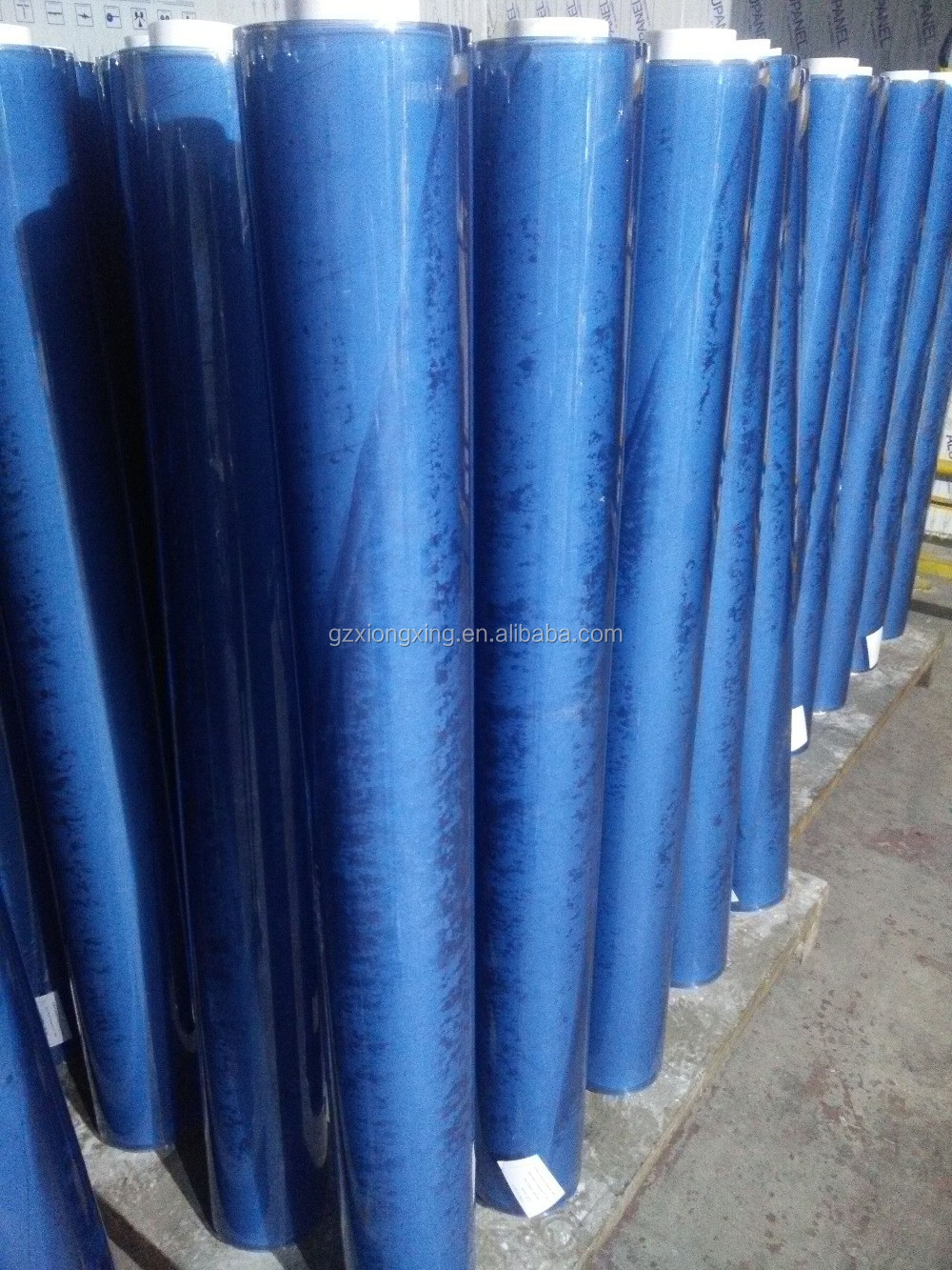 soft and hot blue color clear pvc table cover