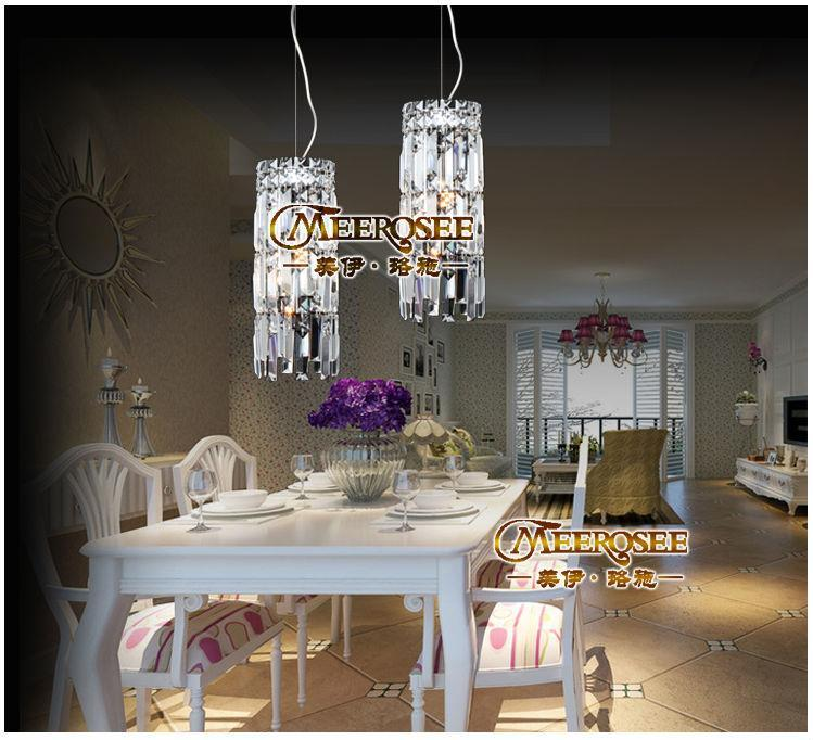 Vintage Crystal Light Crystal Pendant Light for Dining Room, Bedroom, Meeting Room