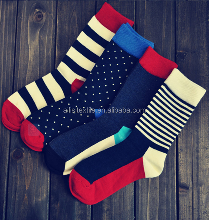 51c3c3f81974 Strip Design Happy Socks ,Men Colorful Fancy Happy Dress Socks. Hot sale  products