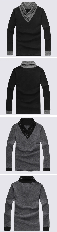 Shirt design china - 2016 New Design China Supplier Mens Fashion Long Sleeves Specially V Neck Polo T Shirts
