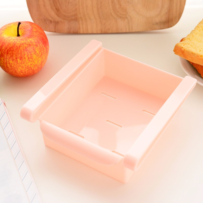 Useful Refrigerator Storage Box Slide Fridge Freezer Space Saver Organizer Storage Rack Shelf Holder Kitchen Accessories