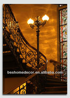 A beautiful staircase in a luxury home gifts indian wedding gift ideas,fabric painting designs images, art minds wood crafts