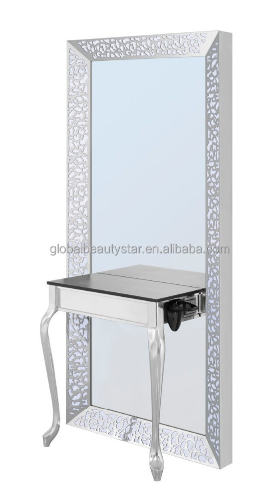 SALON STAINLESS STEEL MIRROR STATION BS-880B