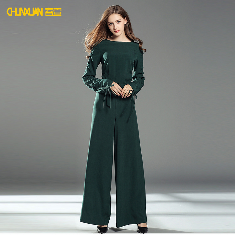 3cb70742f3c 2018 newest fashion long sleeve professional women office jumpsuit