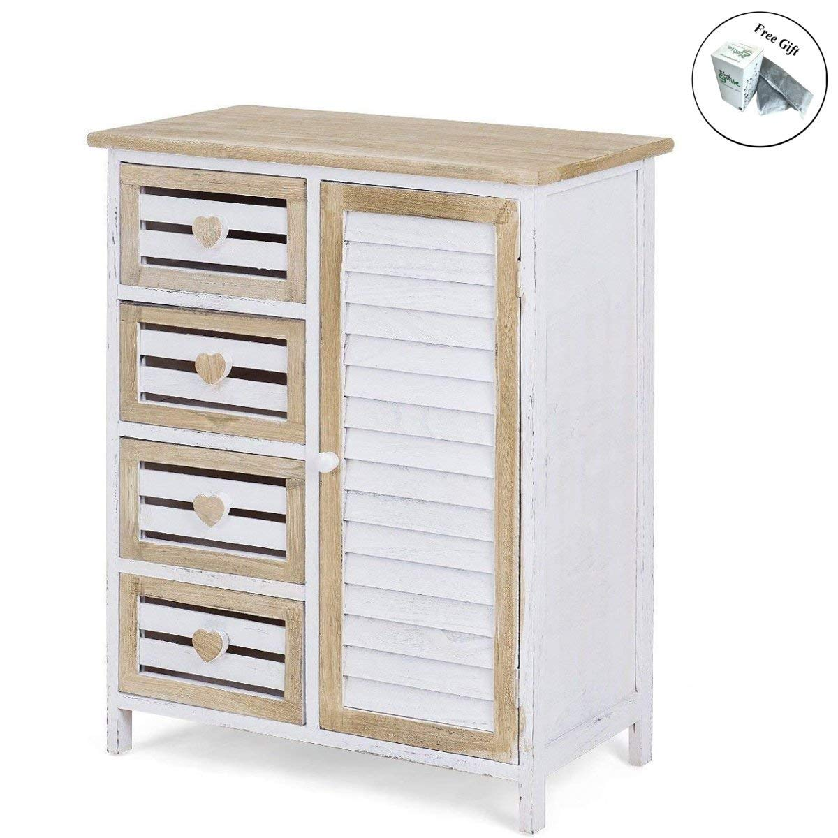 Get Quotations 4 Bin Type Drawers Solid Wood Storage Cabinet Cupboard Home Bathroom Furniture Free E
