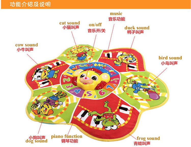 Factory Sale Yiqu Musical Carpet Baby Play Mats Educational Wall ...