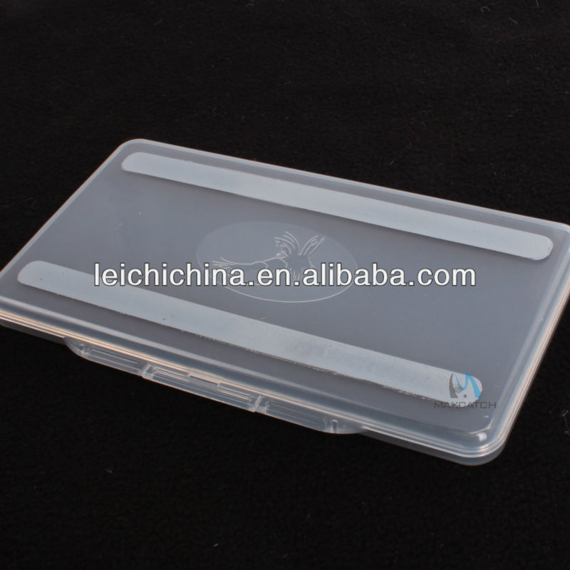 Great small super slim clear plastic compartment fly fishing box