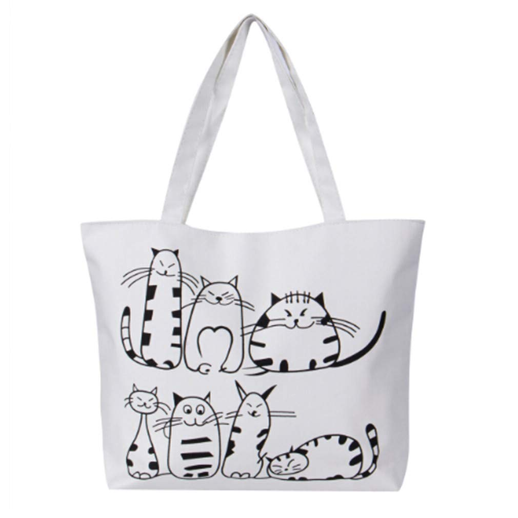 97ee9443ff82 Essencedelight Bag Canvas Wommen Girls Tote Bag Heavy Duty Washable  Shopping Bags
