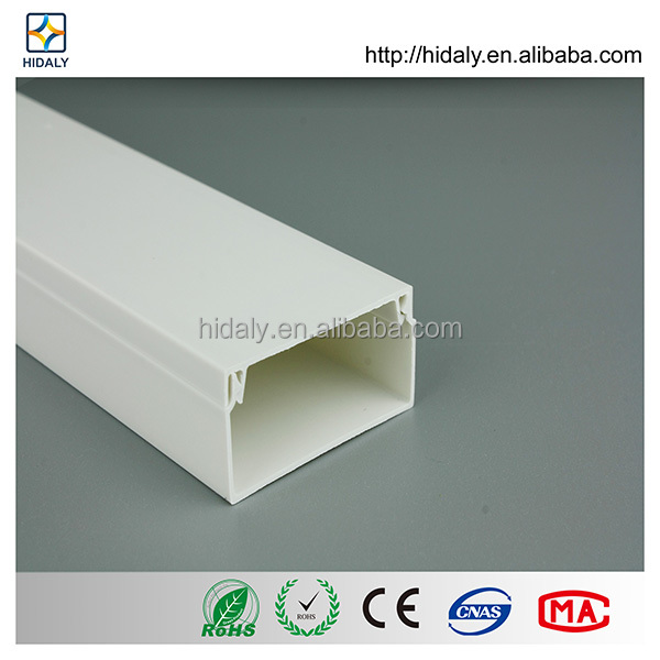 White Color PVC Cable Trunking Size