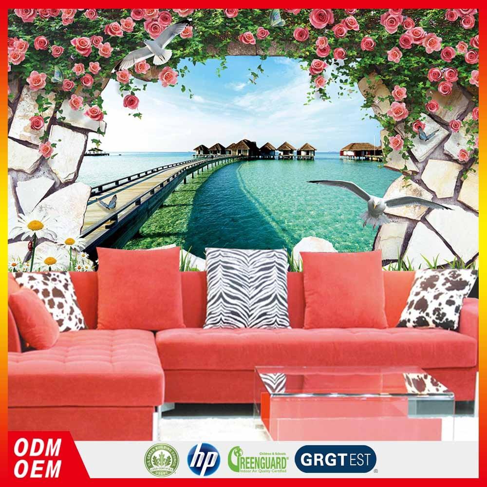 papier peint theme mer good exclusive idea papier peint floral with papier peint theme mer. Black Bedroom Furniture Sets. Home Design Ideas