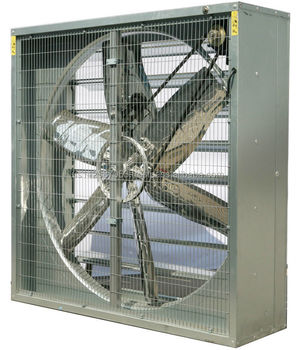 Industrial Wall Mounted Fan Outdoor Carport Ventilation