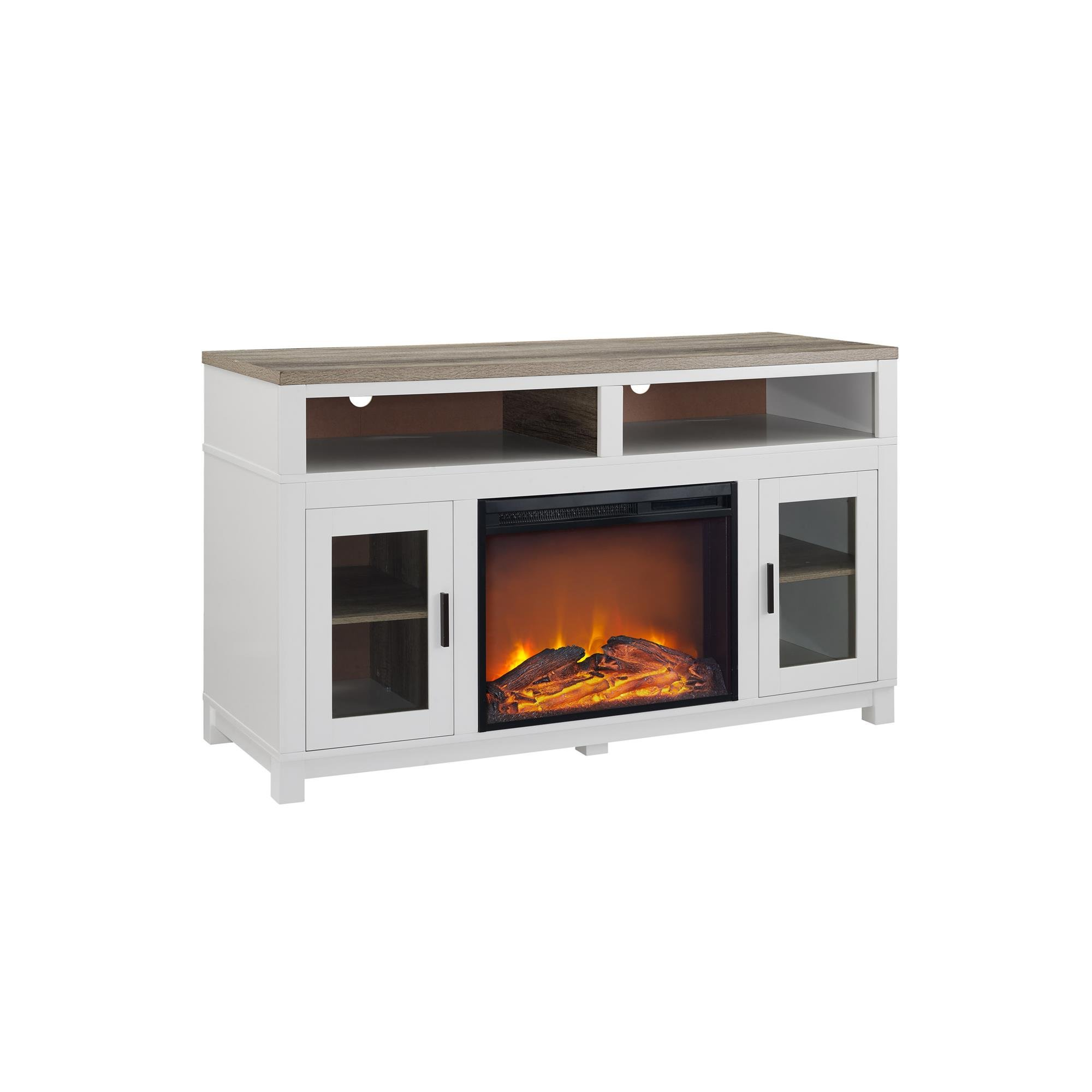 center white canada small lowes corner fireplace stand tv entertainment walmart heater electric