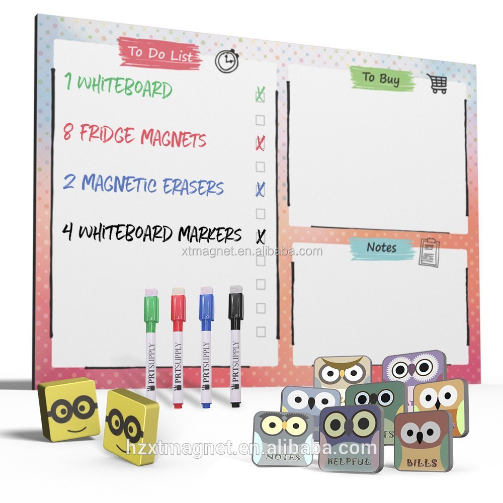 Whiteboard Todo List Magnet Dry Erase Board With 3 Markers For Kitchen  Magnetic Fridge Planner - Buy Magnet Dry Erase Board,White Board,Magnetic