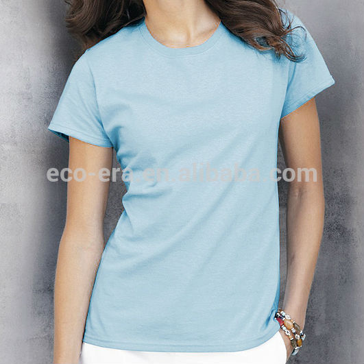 a7a36a0036bf0 Frete Grátis Comprar Direto Da China Senhoras t-shirts A Granel Por Atacado  Em Branco